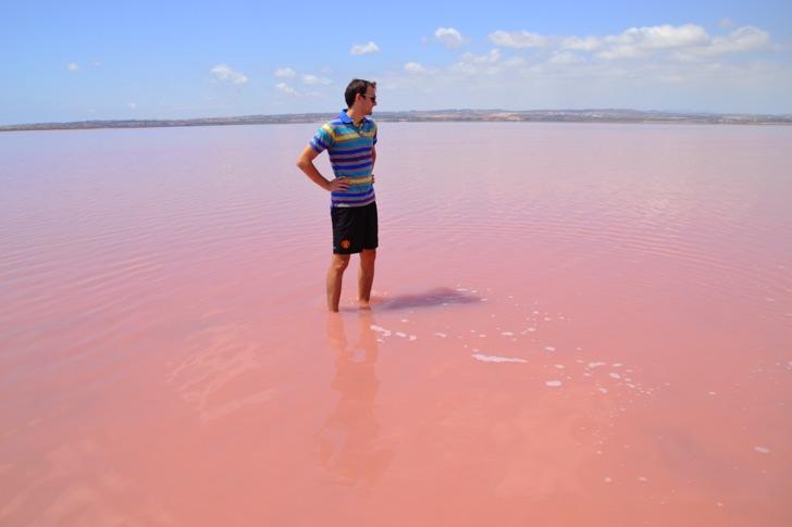 pink water spain