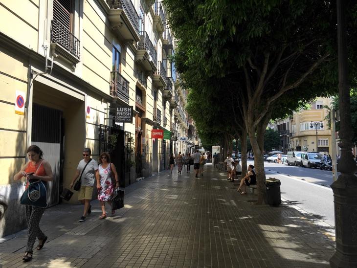 shopping street valencia
