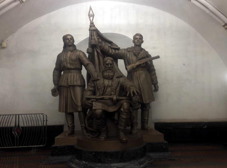 sculptures moscow underground