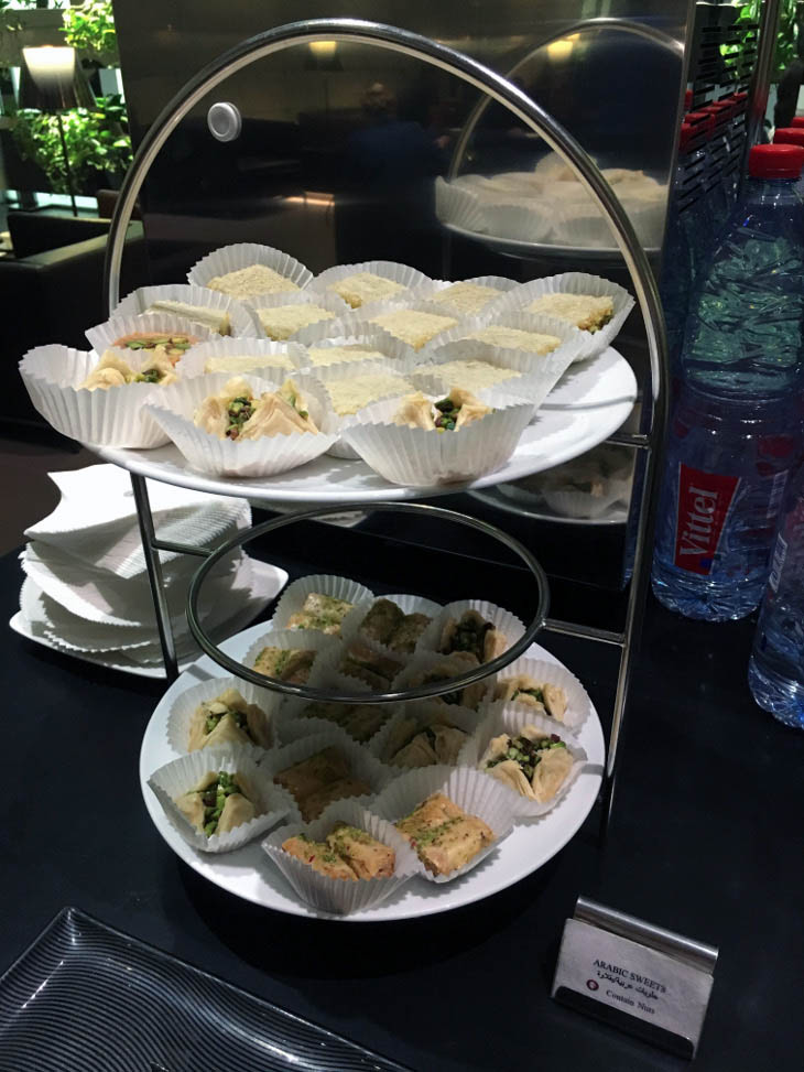 pastries business lounge airport Doha