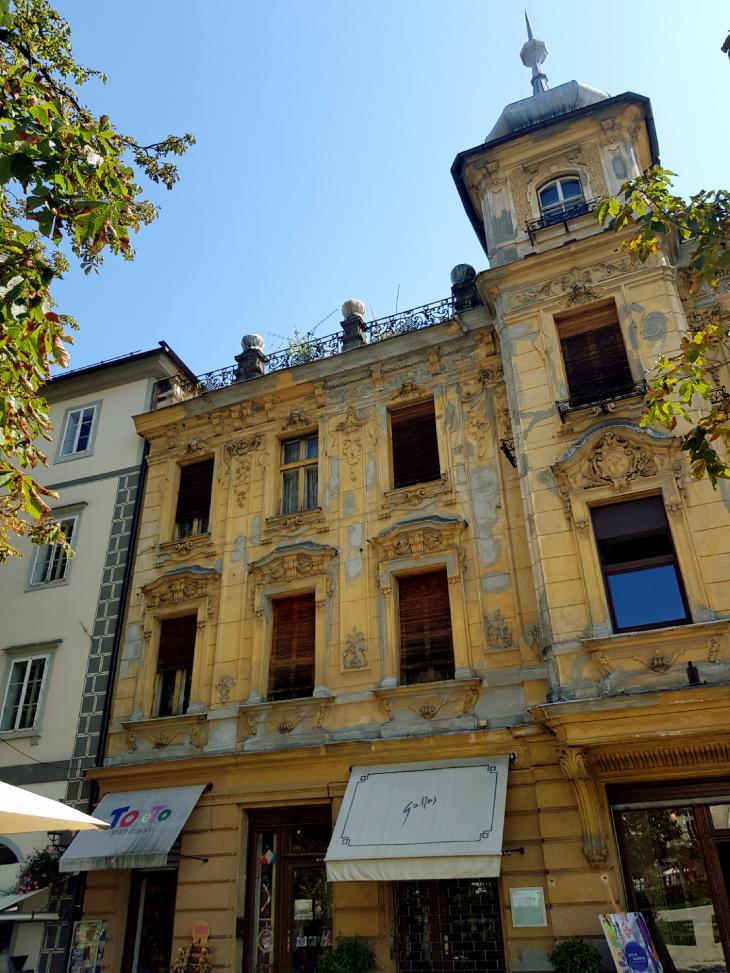 росписные здания любляна