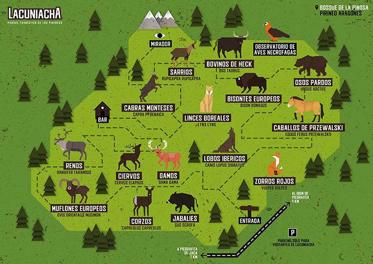 план национального парка Лакуниача Испания