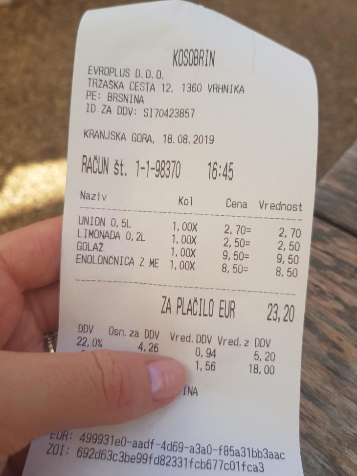 food prices slovenia